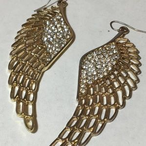 Hot Topic angel wing drop earrings